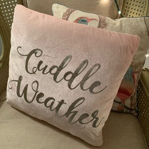 """Cuddle Weather"" pillow"